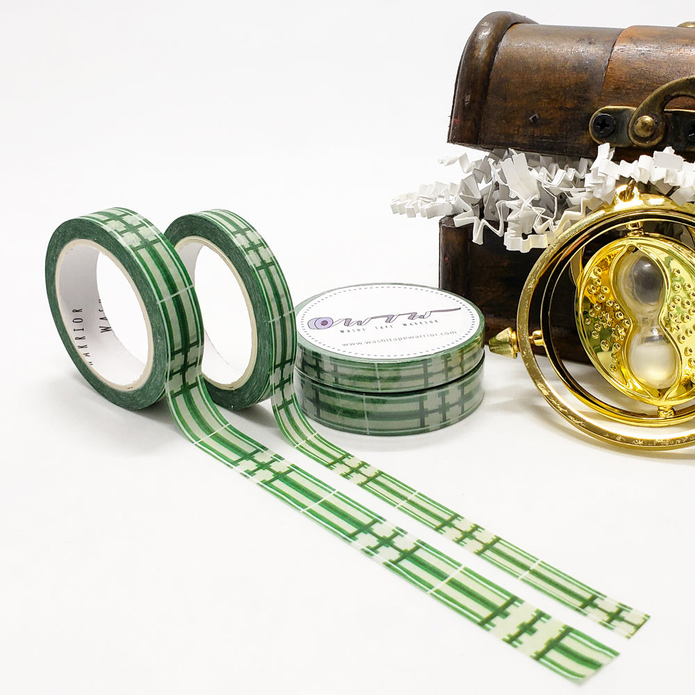 wizarding world washi tape, harry potter, house pride, green and silver, slytherin