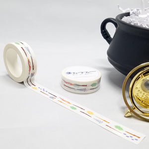 washi tape, magic wands and magical manifestations, perfect for harry potter fans