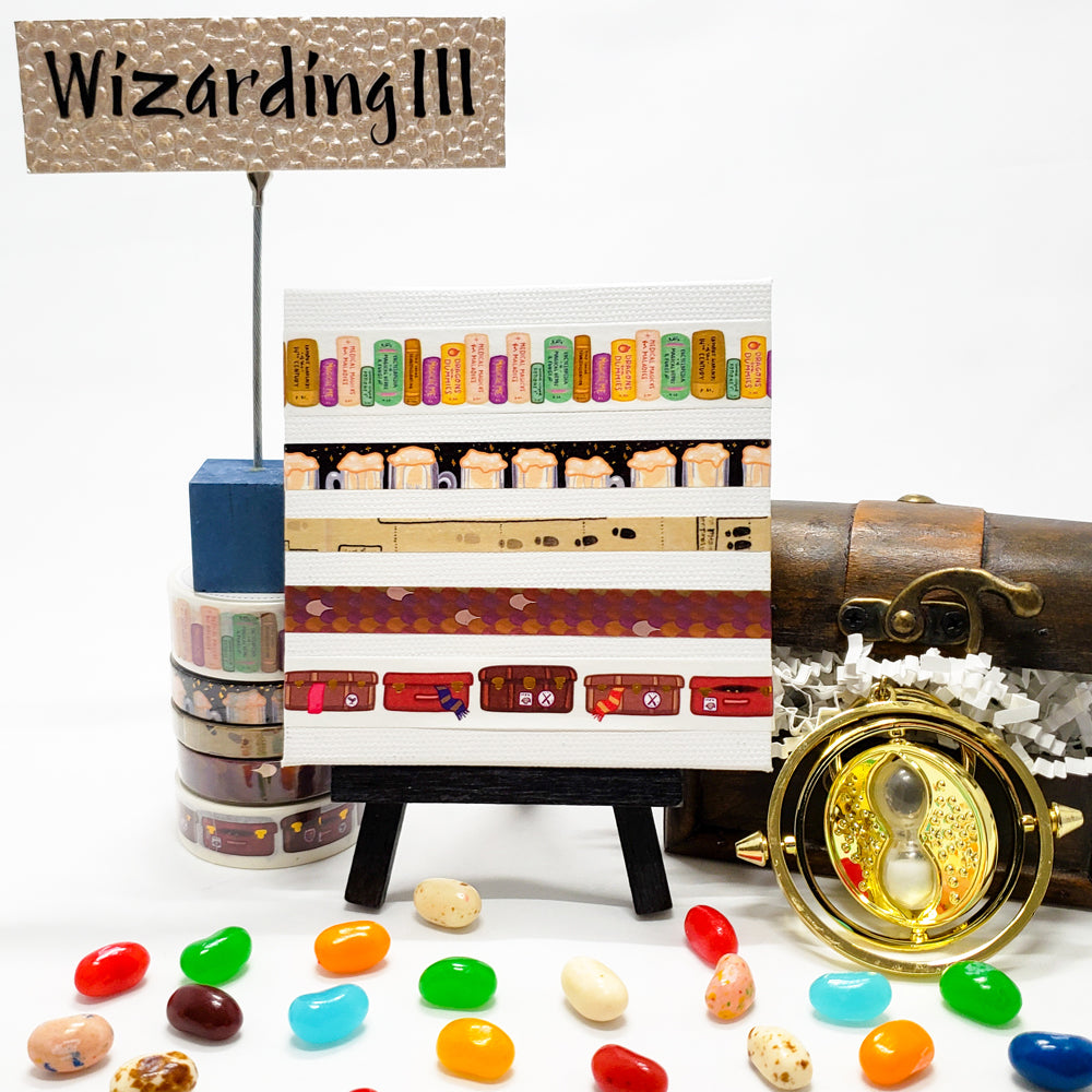 wizarding world washi tape, harry potter, life at hogwarts school of witchcraft and wizardry