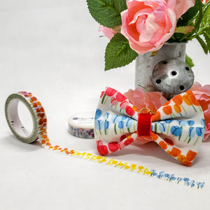 Floral - Tulips Washi Roll with Bow