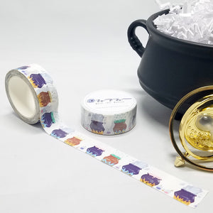 washi tape, cauldron with flames and sparkles, for Harry Potter and Hogwarts fans