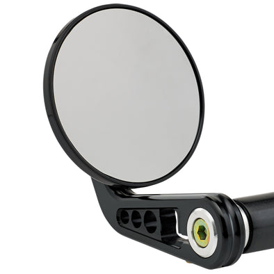3-1/4 inch Round Bar End Mirrors A Black