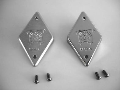 Chrome Billet Steering Head Emblem