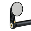 "2-1/4"" Round Bar End Mirrors Stem D Black"