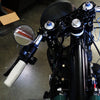 "3-1/4"" Handlebar Mount Mirrors Black"