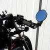 3-1/4 inch Round Bar End Mirrors A Black RSD grips and clip-ons