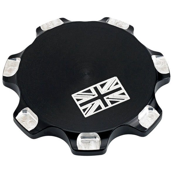 Triumph Billet Gas Cap Union Jack Black