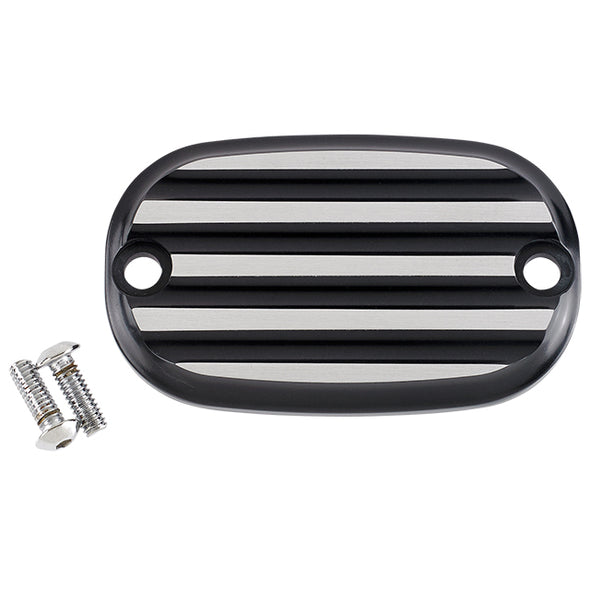 Rear Master Cylinder Covers 1999-Up Finned Black & Silver