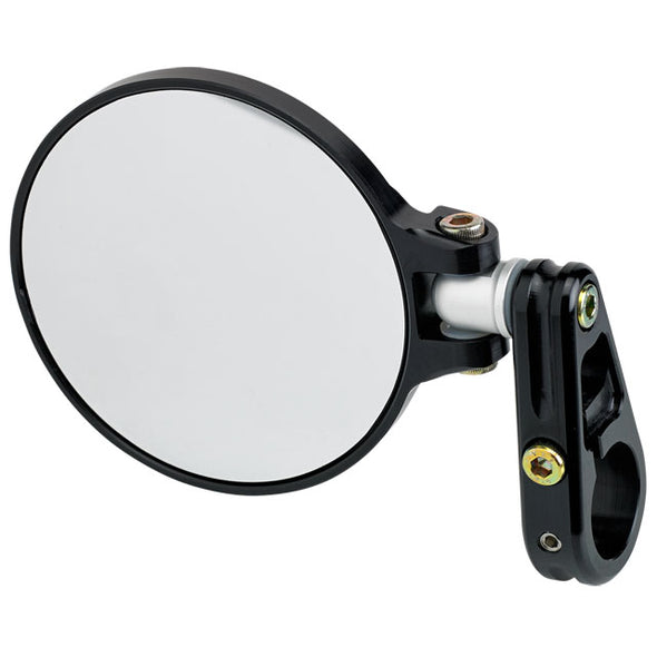 3-1/4 Folding Bar End Mirror Black