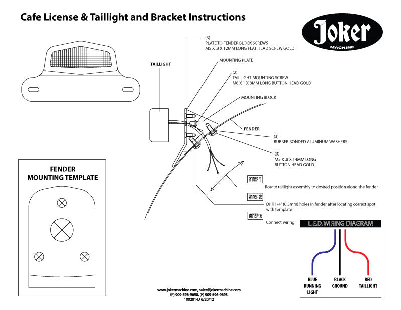 Cafe led taillight and license plate assembly black lucas style cafe led taillight and license plate assembly swarovskicordoba Choice Image
