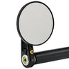 3-1/4 inch Round Bar End Mirrors Stem D Black