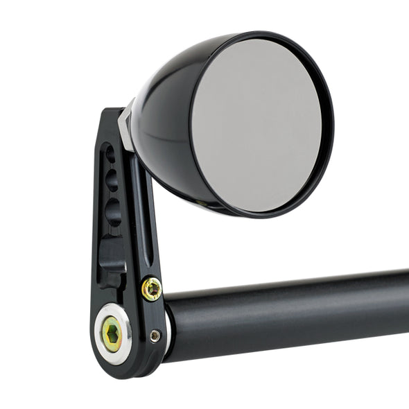 Cone Bar End Mirror Stem D Black