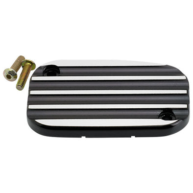 Hydraulic Clutch MC Cover Finned Black FL, V-Rod