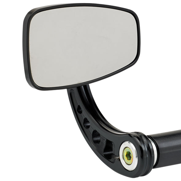 Cafe Style Bar End Mirror Stem C Black