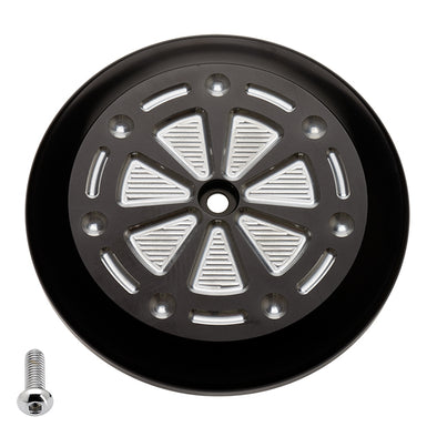VT Air Cleaner Cover Techno Black Silver