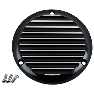 3 Hole Derby Cover Finned Black