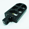 Adjustable Serrated Footpegs Long Black