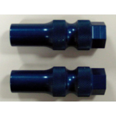 Knurled Axle Adjuster Blue