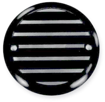 2 Hole Point Cover Black Finned