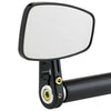 Cafe Style Bar End Mirror Stem D Black