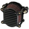 Omega Air Cleaner Finned Black