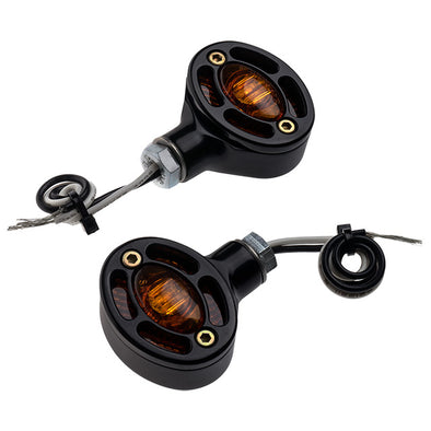 Omega Center Mount Turn Signal Amber Black