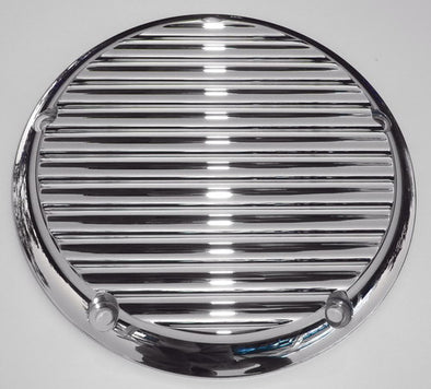 Finned Chrome Derby Cover