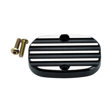 FL Rear Master Cylinder Cover Finned Black