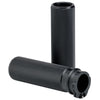 Open Ended Knurled Hand Grips Black