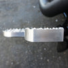 Adjustable Serrated Footpegs Long Raw