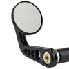 "2-1/4"" Round Bar End Mirrors Stem A Black"