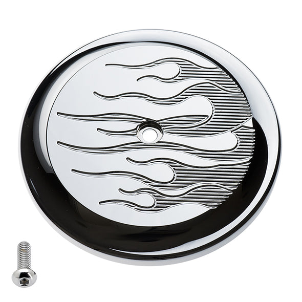 VT Air Cleaner Cover Flame Chrome