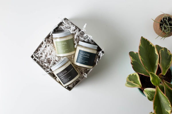 Our 4oz Gift Set is the perfect gift for any candle lover in your life! Personalize our 4oz Gift Set by combining three of her or his favorite scents.