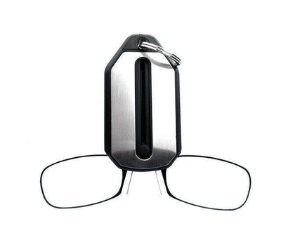 La Belle Sophie +100 / Black Clip Nose Reading Glasses