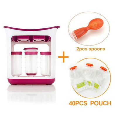 La Belle Sophie 40pouch 2spoons Baby Organic Food Station