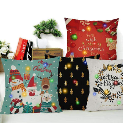 La Belle Sophie 45x45cm / 1 LED Lights Christmas Pillow Cover