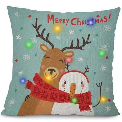 La Belle Sophie 45x45cm / 10 LED Lights Christmas Pillow Cover