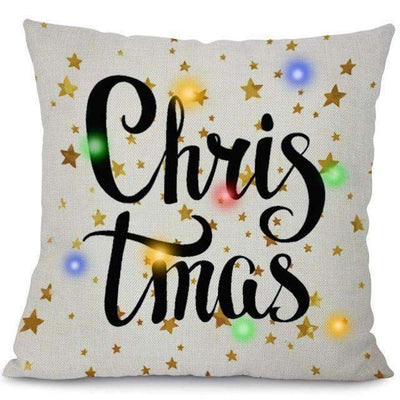 La Belle Sophie 45x45cm / 5 LED Lights Christmas Pillow Cover