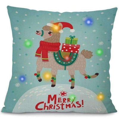 La Belle Sophie 45x45cm / 7 LED Lights Christmas Pillow Cover