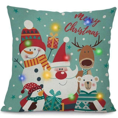 La Belle Sophie 45x45cm / 8 LED Lights Christmas Pillow Cover