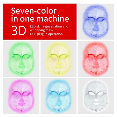 La Belle Sophie AU Plug no box / China 7 Colors LED Facial Mask