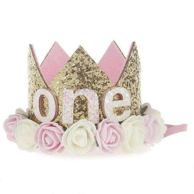 La Belle Sophie B Flower Party Crown Headband Birthday