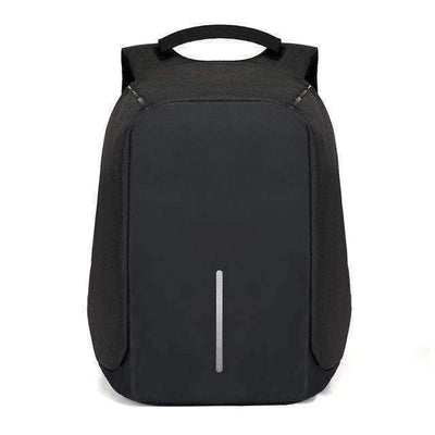 La Belle Sophie Black City Travel  Laptop Backpack USB Charging Backpack