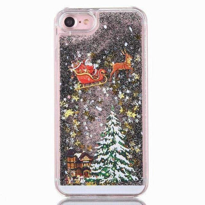 La Belle Sophie Black / for iphone 6 6S Christmas Quicksand Phone Case