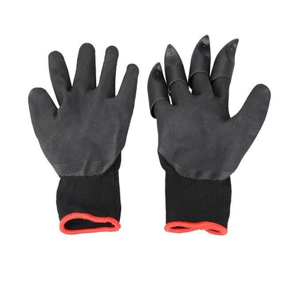 La Belle Sophie Black Garden Gloves with Claws for Digging and Planting