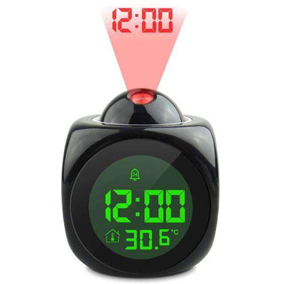 La Belle Sophie Black LCD Talking Projection Alarm Clock