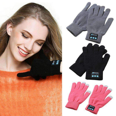 La Belle Sophie Black / One Size Talk to the Hand Bluetooth Winter Gloves. Smart Phone