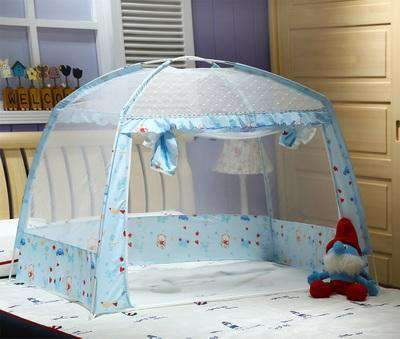 La Belle Sophie Blue Baby Folding Mosquito Net Portable Baby Bed Crib