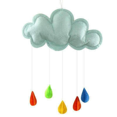 La Belle Sophie Blue Baby Pillow Kids Room Decoration Handmade Raining Clouds