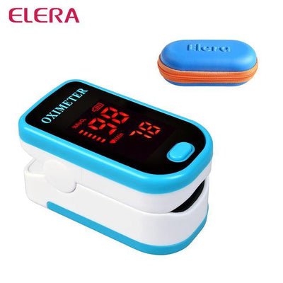 La Belle Sophie blue with case Fingertip Pulse Oximeter